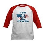 Yes We Did 11-4-2008 Kids Baseball Jersey