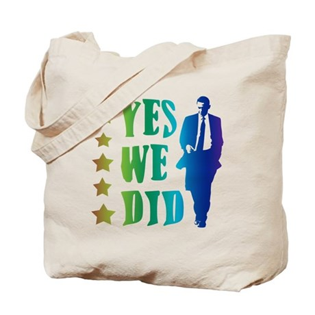 Yes We Did Rainbow Tote Bag