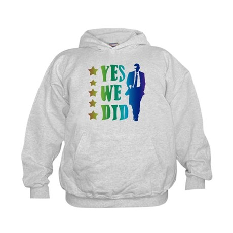 Yes We Did Rainbow Kids Hoodie