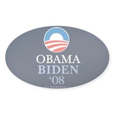"""Obama-Biden 2008"" Oval Decal"