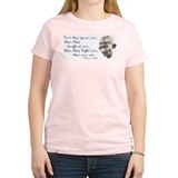 "Gandhi Quote - ""First they ig Women's Pink T-Shirt"