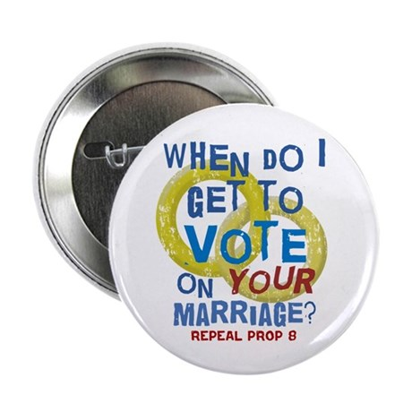 "Prop 8 - Your Marriage 2.25"" Button (100 pack)"