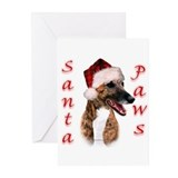 Brindle Santa Paws Greeting Cards (Pk of 20)