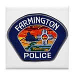 Farmington Police Tile Coaster