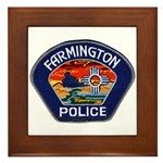 Farmington Police Framed Tile