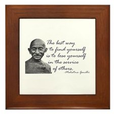 Gandhi Quote - Best way to fi Framed Tile