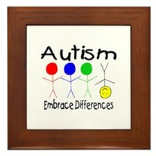 Autism, Embrace Differences Framed Tile