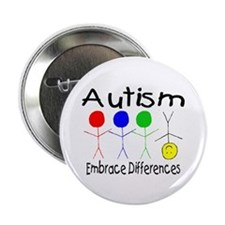 "Autism, Embrace Differences 2.25"" Button"