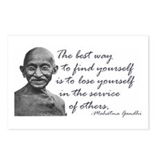 Gandhi Quote - Best way to fi Postcards (Package o