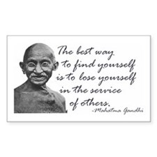 Gandhi Quote - Best way to fi Sticker (Rectangular
