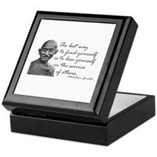 Gandhi Quote - Best way to fi Keepsake Box
