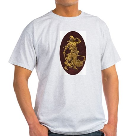 Gold Leaf Pirate Ash Grey T-Shirt