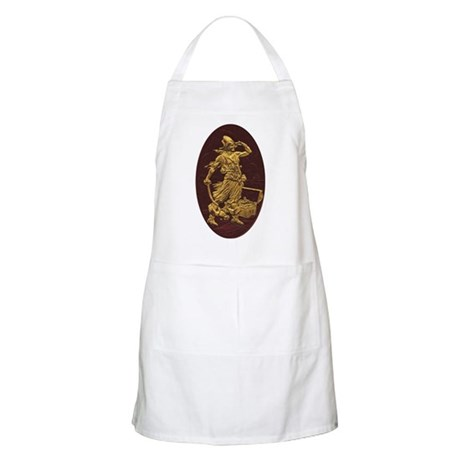 Gold Leaf Pirate BBQ Apron