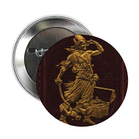 "Gold Leaf Pirate 2.25"" Button (100 pack)"