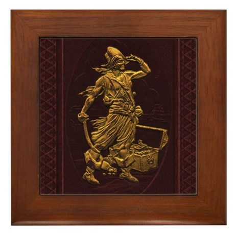 Gold Leaf Pirate Framed Tile