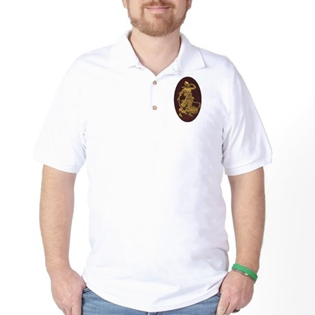 Gold Leaf Pirate Golf Shirt