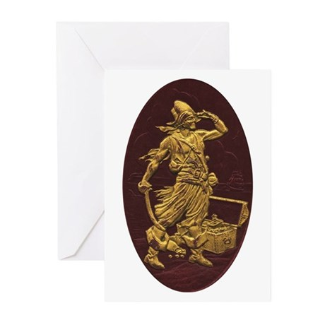 Gold Leaf Pirate Greeting Cards (Pk of 10)