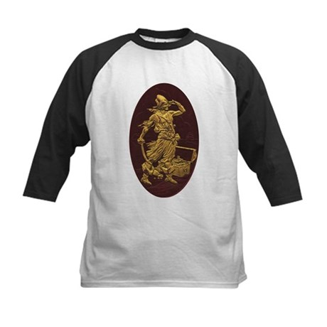 Gold Leaf Pirate Kids Baseball Jersey