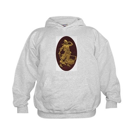 Gold Leaf Pirate Kids Hoodie