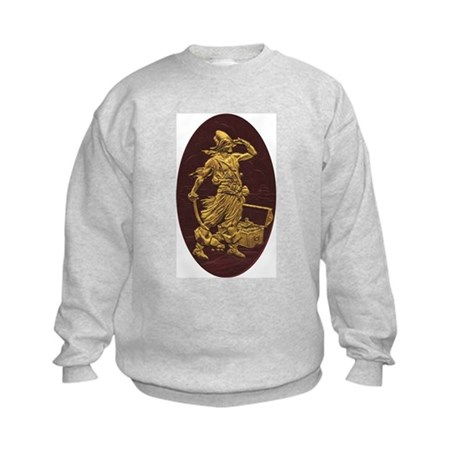 Gold Leaf Pirate Kids Sweatshirt