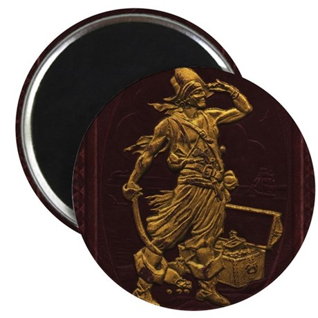 "Gold Leaf Pirate 2.25"" Magnet (100 pack)"