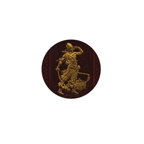 Gold Leaf Pirate Mini Button