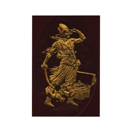 Gold Leaf Pirate Rectangle Magnet