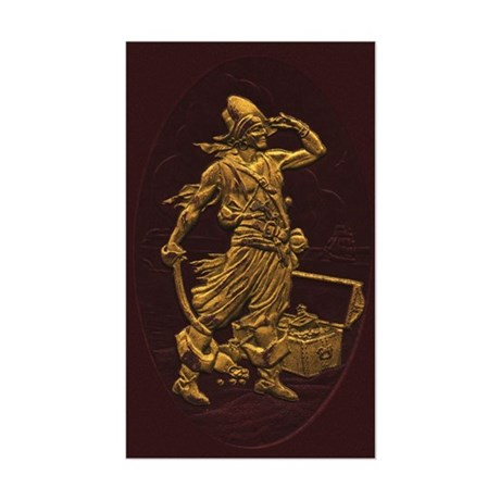 Gold Leaf Pirate Rectangle Sticker