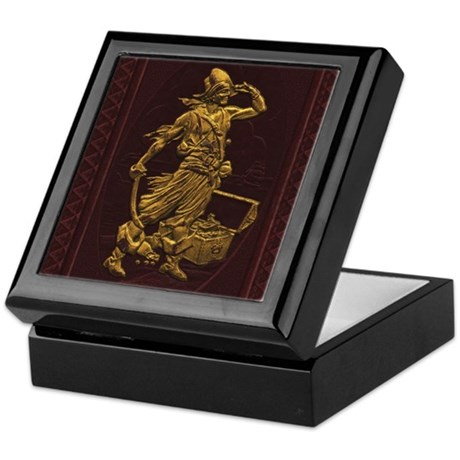 Gold Leaf Pirate Keepsake Box
