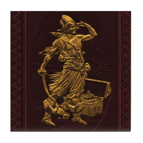 Gold Leaf Pirate Tile Coaster