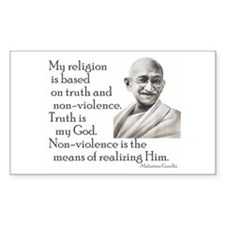 Gandhi quote - Truth is my Go Sticker (Rectangular