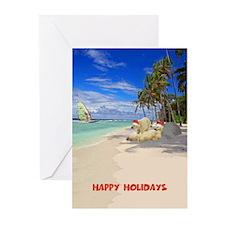 Happy holidays Polar Bears Greeting Cards (Pk of 2