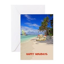 Happy holidays Polar Bears Greeting Card