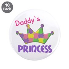"Autistic Princess 3 3.5"" Button (10 pack)"