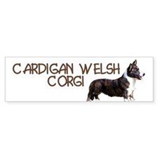 cardigan welsh corgi Bumper Car Sticker