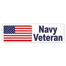 Navy Veteran Bumper Sticker for Navy Veterans