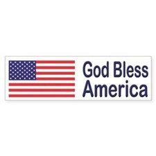 God Bless America Patriotic Bumper Bumper Sticker