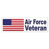 Air Force Veteran Bumper Bumper Sticker