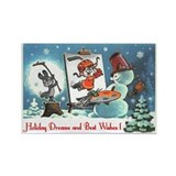 Holiday Dreams & Best Wishes Rectangle Magnet