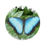 Common Blue Morpho Ornament (Round)