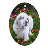 Clumber Spaniel Ornament (Oval)