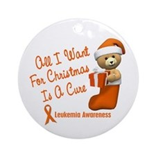 Bear In Stocking 1 (Leukemia) Ornament (Round)