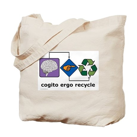 Cogito Ergo Recycle Tote Bag