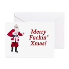 Merry Fuckin' Xmas Greeting Cards (Pk of 20)