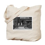 Old Bicycle Rental Shop Tote Bag