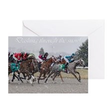 Unique Race horses Greeting Cards (Pk of 20)