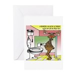 Rudolph's Drug Test Greeting Cards (Pk of 10)