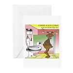 Reindeer Drug Tests Greeting Cards (Pk of 20)