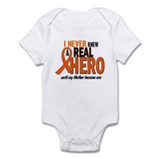 Never Knew A Hero 2 ORANGE (Mother) Infant Bodysui