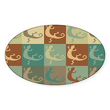 Zoology Pop Art Oval Sticker (10 pk)